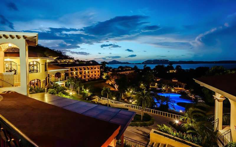 This magnificent all inclusive resort overlooks the Gulf of Papagayo and features a secluded, natural volcanic sand beach