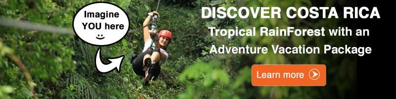 This banner offer Adventure Vacation Packages to Costa Rica