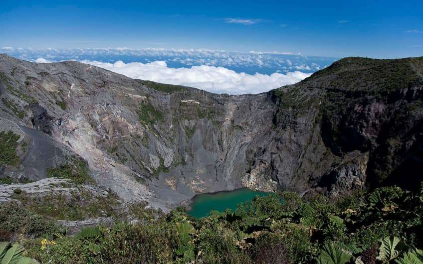 The Irazú Volcano (Spanish: Volcán Irazú) is an active volcano in Costa Rica, situated in the Cordillera Central close to the city of Cartago.